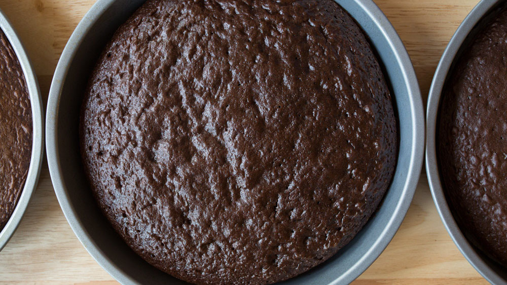 baked chocolate cake finished comparison